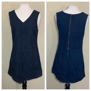 Gap denim shift dress sleeveless size 6 pockets